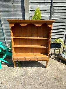 Vintage Country Pine Wall Shelves Shelving Cupboard Cabinet Storage Unit