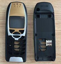 Gehäuse Cover Oberschale passend für Nokia 6310 / 6310i in Schwarz / Gold