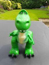 """REX Toy Story Dinosaur Juguete Verde hablando el movimiento de Boca 14"""" Disney empuje a lo largo de"""