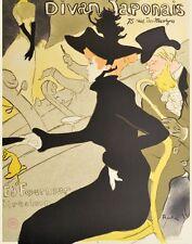 Henri Toulouse-Lautrec Divan Japonais Siebdruck Kunstdruck Bild 79x60cm