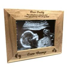 New Baby Pregnancy Scan Wooden Photo Frame Daddy Gift