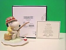 Lenox Fishing Buddies Snoopy & Woodstock Peanuts sculpture New in Box with Coa