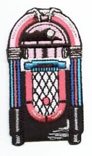 Jukebox - Pink/Blue/Silver - Music Set - Iron on Applique/Embroidered Patch