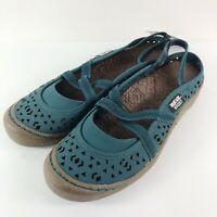 MUK LUKS Sport Women's Erin Flats Slingback Sandal Turquoise Size 9