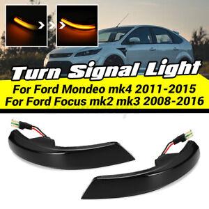 Paar LED Seitenblinker DYNAMISCHE Blinkleuchte für Ford Focus Mk2 Mk3 Mondeo Mk4
