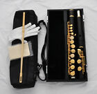 Professional New Alto Flute Gold Plated Ebony Wooden G Key With Headjoint Case