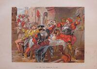 C1870 Shakespeare Stampa Othello Atto II Scena II Lasciare Me The Canakin Clink