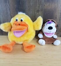 "Dan Dee Plush Duck 16"" And Dog 11"" Puppet - Collectors Choice No Sound"
