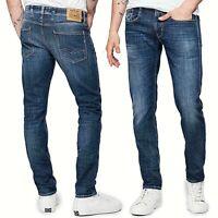REPLAY jeans da uomo modello anbass slim pantalone vintage ed elasticizzato M914