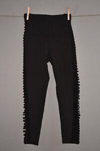 ALO YOGA NEW $128 High Waist Mesh Prism Capri Legging in Black XS