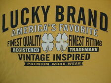 Lucky Brand America's Favorite Premium Work-Wear Yellow Cotton T Shirt Size XL
