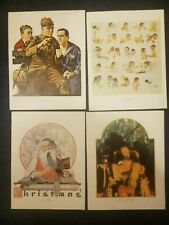 Vtg Collection Of 8 Norman Rockwell Prints Picture Santa Claus Christmas Fall