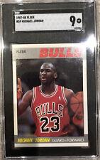 Michael Jordan 1987-88 Fleer #59 SGC 9 MINT    2nd Year GOAT. Perfect Centering