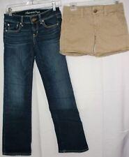 Lot Women Size 2 AMERICAN EAGLE ~ Favorite Boyfriend Jeans & Stretch Midi Shorts