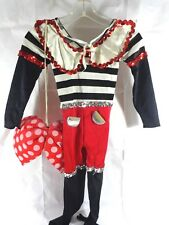 Minnie Mouse Costume Child Medium Dansco Sequins Large Bow Bodysuit