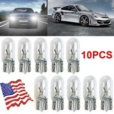 10pcs T10 194 168 158 12V 5W White Halogen Bulbs Instrument Panel Dash Light