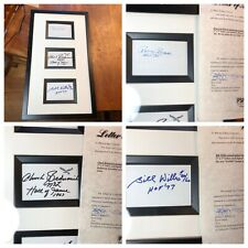 NFL HOF Autographs - Brown (Giants),  Bednarik (Eagles) & Willis (Browns) - PSA