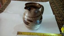Studio Pottery,  Hartland Pottery Speckled Jug By Clive C. Pearson, Dated c.1989