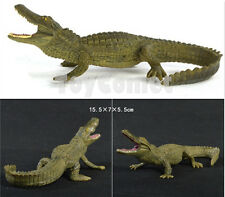 15.5cm Alligator Crocodile Realistic Wild Animal Figure Solid Plastic Toy Model