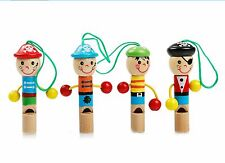 Children Kids Wooden Whistle Pirate Toy Musical Gift J14