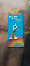 Rainbow Dog Collar Charm clouds You are loved brand pride accessories cat tag