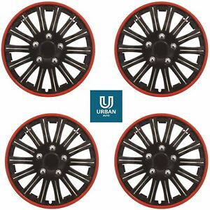 """Wheel Trim Cover Lightning Red Trim 14"""" To Fit Renault Clio Iii Hub Cap Cover"""