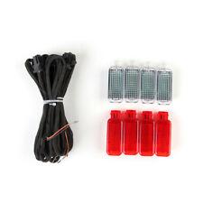 8pcs Door Warning Light Set + Cable For AUDI A3 A4 A6 Allroad Quattro A7 Q3 Q5