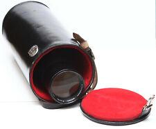 "Vintage Leather Lens Case 11"" High For Canon Nikon Olympus Pentax Leica Minolta"
