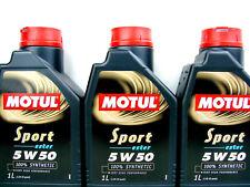 3x1liter MOTUL Sport 5w-50 ACEITE DE MOTOR ESTER Core 5w50 totalmente sintético