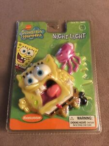 Spongebob Squarepants Night Light *RARE* HTF 2003 Wall New Sealed Works!