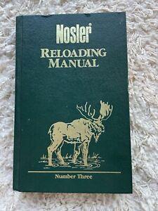 Nosler Reloading Manual, Number Three 3, 1989, Hardcover
