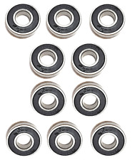 (Qty.10) 6001-2RS two side rubber seals bearing 6001-rs ball bearings 6001 rs rz