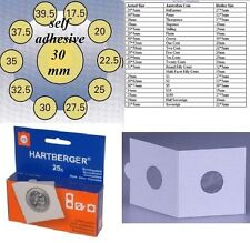 25 HARTBERGER self adhesive  2 x 2  coin holders:30 mm   made in the Netherlands