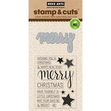 Hero Arts Stamp & Cuts Merry #396 DC170 Stamp with Die