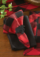 Napkin - Buffalo Check by Park Designs - Kitchen Dining Black Red