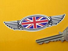 Union Jack Alada Casco Adhesivo 90mm Moto Bicicleta británica Gran Bretaña Bandera
