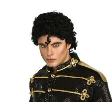 Adult Michael Jackson Wig Curly Black Hair Halloween Costume Mens J Curl MJ NEW