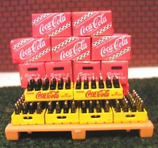 15 Red Coca-Cola Cases and Bottles 1:24 G Scale !