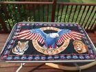 Vintage Eagle Tiger Lion Peace America Tapestry
