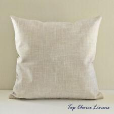 45cm x 45cm Home Decorative Solid Color Linen Look Cushion Cover-Light Beige