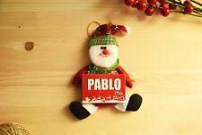 Muñeco bola mini adorno PERSONALIZADO con nombre para árbol navidad decoración