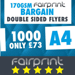 1000 A4 Flyers Leaflets Printed 170gsm Gloss