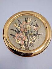 Japanese Chokin Art Loose Powder Vanity Dish Or Trinket Box Hummingbird Flowers