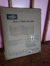New listing Pawland 96-inch Extra Wide Dog gate for The House, Doorway, 4 Panel Espresso