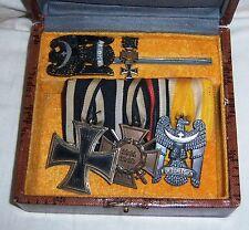 GERMAN  -  Original, Silesian Eagle I & II Lot + Iron Cross II, Pin etc. Cased.