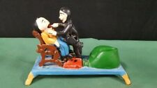 Vintage Cast Iron Mechanical Bank Reproduction Dentist with Patient - works