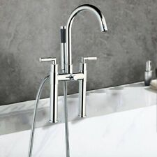 Bathtub Shower Faucets Set Deck Mount Mixer Tap Water Spray Showers Head Faucet
