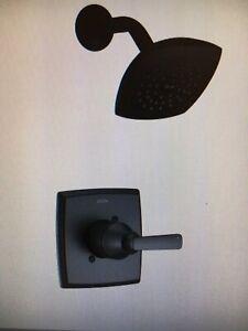 DISCOUNTED DELTA ASHLYN BLACK SHOWER TRIM, # T14264-BL