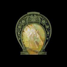 Carved MOP Horse Horseshoe Bead HC010007