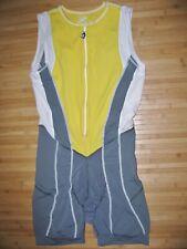DESOTO Tri Skin Suit Size LARGE Zip Zipper Front TRIATHLON Trisuit SKIN COOLER